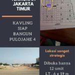 KAVLING SIAP BANGUN DI JATINEGARA, JAKARTA TIMUR : KAVLING PULO JAHE TERMURAH DEKAT STASIUN, HALTE BUARAN & TOL
